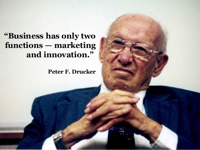 Marketing is one of the most important functions of a business according to Peter Drucker